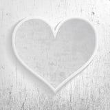 Gray heart memories Royalty Free Stock Image