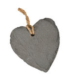 Gray heart of stone Royalty Free Stock Photography
