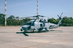 Gray Helicopter Royalty Free Stock Image