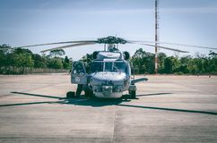 Gray Helicopter Royalty Free Stock Photos