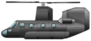 A gray helicopter Royalty Free Stock Photos