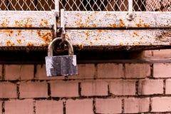 Gray hinged castle weathered cracked paint background beige wall brick urban design base stock image