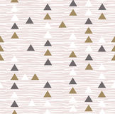 Gray hipster geometrical seamless vector pattern. Stock Photo
