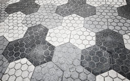 Gray honeycomb cobblestone pattern Royalty Free Stock Photos
