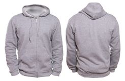 Gray Hoodie Mock up royalty free stock photography