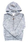 Gray hoodie sweater. Royalty Free Stock Image