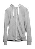 Gray hoodie on white background Stock Images