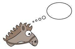 Gray horse head with bubble Royalty Free Stock Photo
