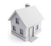 Gray house. Royalty Free Stock Photography