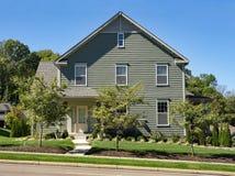Gray House com guarnição neutra Imagens de Stock