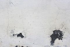 Gray house of paint and old dirty plaster with cracks royalty free stock images