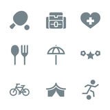 Gray icon set activity Royalty Free Stock Images