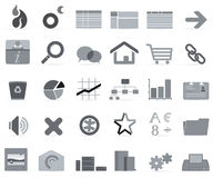 Gray icons  Stock Photo