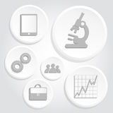 Gray icons of science and business Royalty Free Stock Image