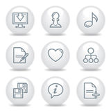 Gray icons set 10 Stock Image