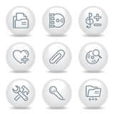 Gray icons set 11 Royalty Free Stock Images