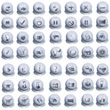 Gray icons set Royalty Free Stock Photo