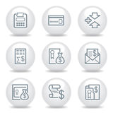 Gray icons set 14 Royalty Free Stock Photo