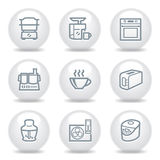 Gray icons set 17 Stock Image