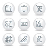 Gray icons set 23 Stock Image