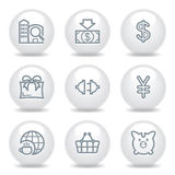 Gray icons set 24 Stock Photography