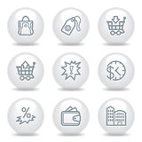 Gray icons set 26 Royalty Free Stock Images