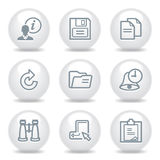 Gray icons set 3 Royalty Free Stock Photo
