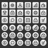 Gray icons set business finance Stock Images