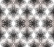 Gray illusive abstract seamless pattern with overlapping geometr Stock Photo