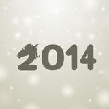 Gray 2014 illustration background Royalty Free Stock Photos