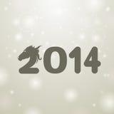Gray 2014 illustration background. Gray 2014 snow white background stock illustration