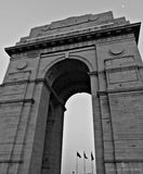 Gray India Arch Under Gray Clouds Royalty Free Stock Photo