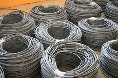 Gray industrial cables Royalty Free Stock Image