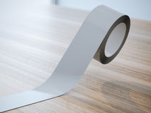 Gray insulating tape roll Royalty Free Stock Photography