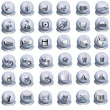 Gray interface icons Royalty Free Stock Photography