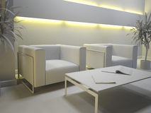 Gray interior Stock Image