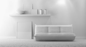 Gray interior Royalty Free Stock Photography