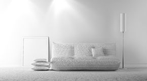 Gray interior Stock Photo
