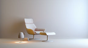 Gray interior. A gray 3d interior composition Royalty Free Stock Images