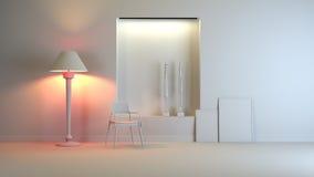 Gray interior. A gray 3d interior composition Stock Photography