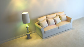 Gray interior. A gray 3d interior composition Stock Images