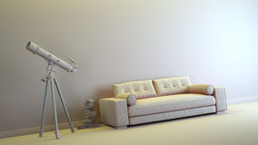 Gray interior royalty free illustration