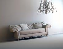 Gray interior. A gray 3d interior composition Royalty Free Stock Image