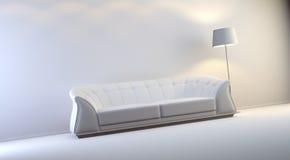 Gray interior. A gray 3d interior composition Royalty Free Stock Photos