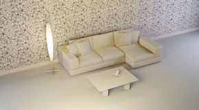 Gray interior. A gray 3d interior composition Stock Image