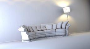 Gray interior. A gray 3d interior composition Stock Photos