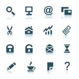 Gray internet icons, part 1 Stock Photo