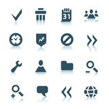 Gray internet icons, part 2 royalty free stock image
