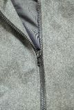 Gray jacket and zipper Royalty Free Stock Images