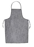 Gray jeans apron. Royalty Free Stock Images